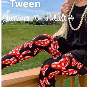 Charlie's Project Red Bow Minnie Leggings one size